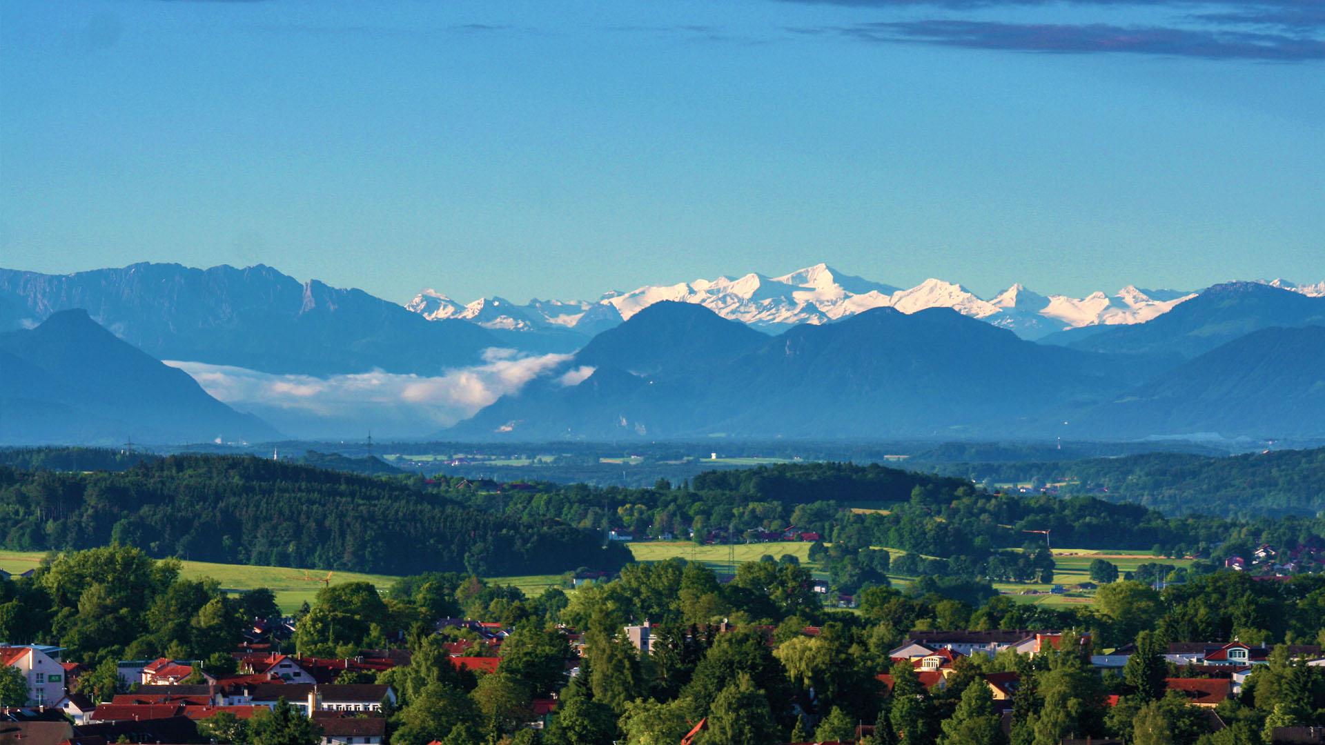 Alpenvorland mit Blick zum Großvenediger