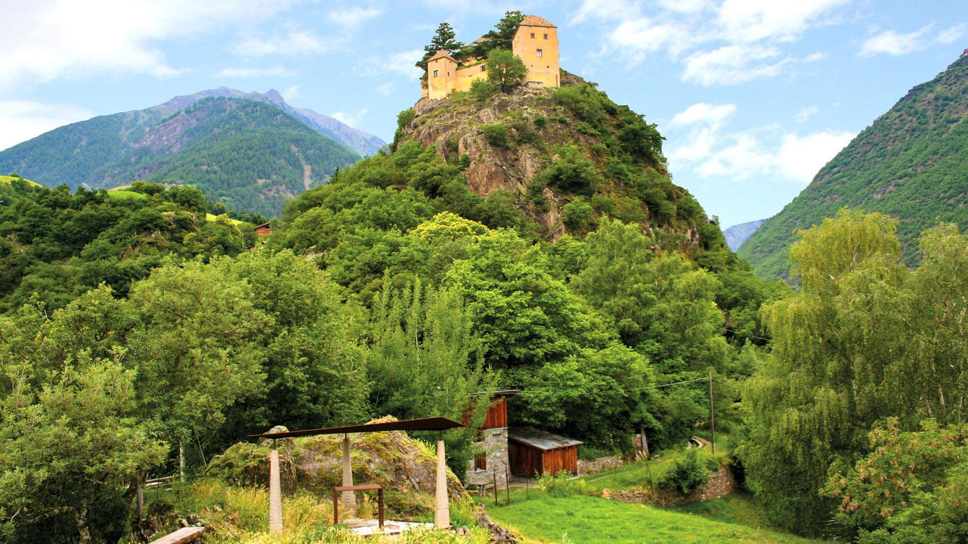 Grabungsstätte am Burgberg von Schloss Juval