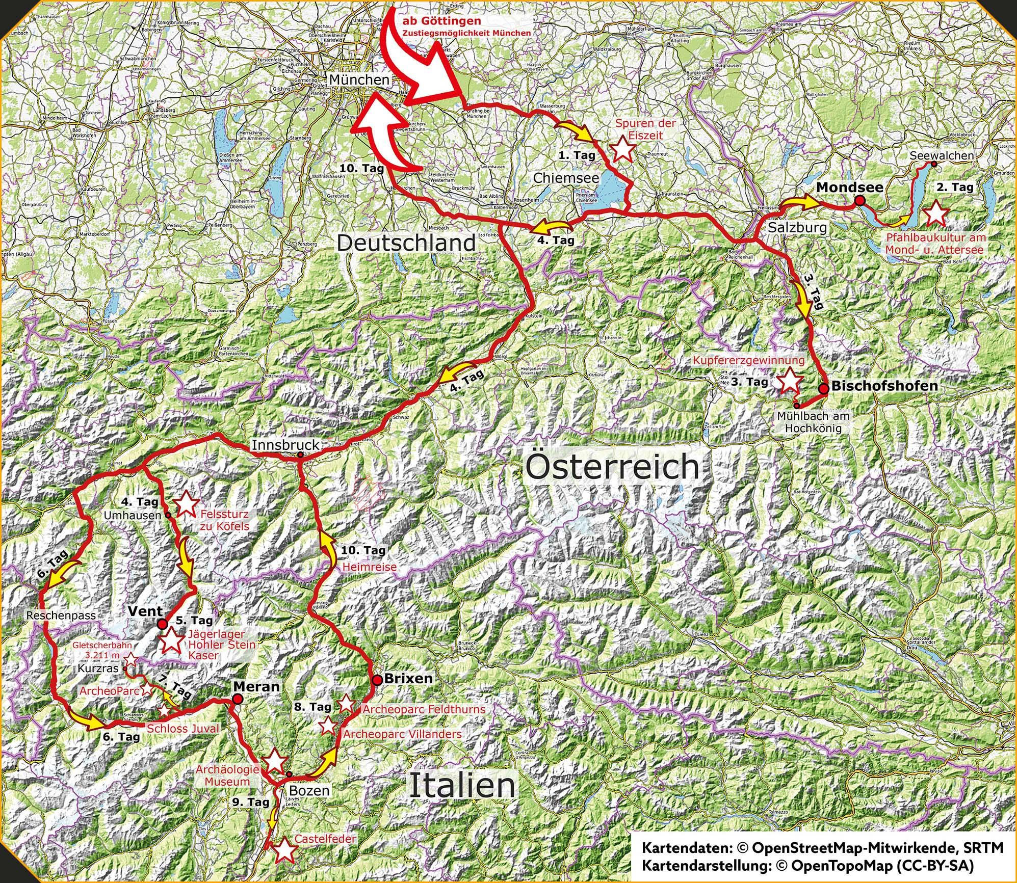 Karte Kupferstraße