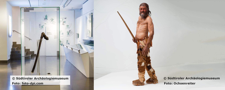 Ötzis Beil und die Rekonstruktion des Mannes aus dem Eis